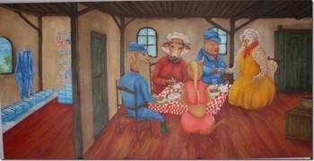 voor: Asperge en Vleesboerderij de Laarhoeve Acryl op paneel, 180 x 60 cm
