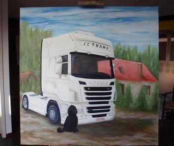 JC TRANCE-SCANIA Olieverf op paneel, 180 x 180 cm