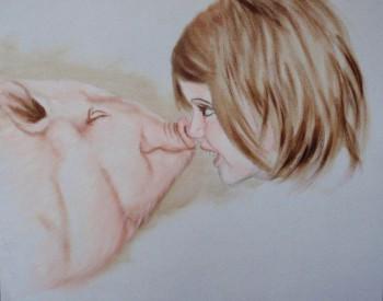 Dikke vriend Acryl, 50 x 40 cm